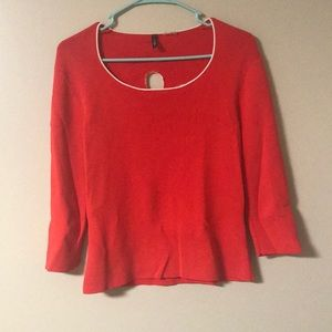 Venini Daisy Cut-out red Top 3/4 sleeve